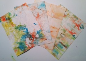 Tie-dyed papers