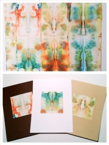 Display your tie-dyed papers as finished art