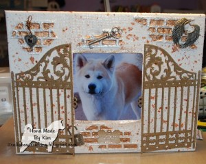 mixed media scrapbooking collage with photos