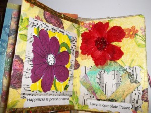 handmade books with mixed media art