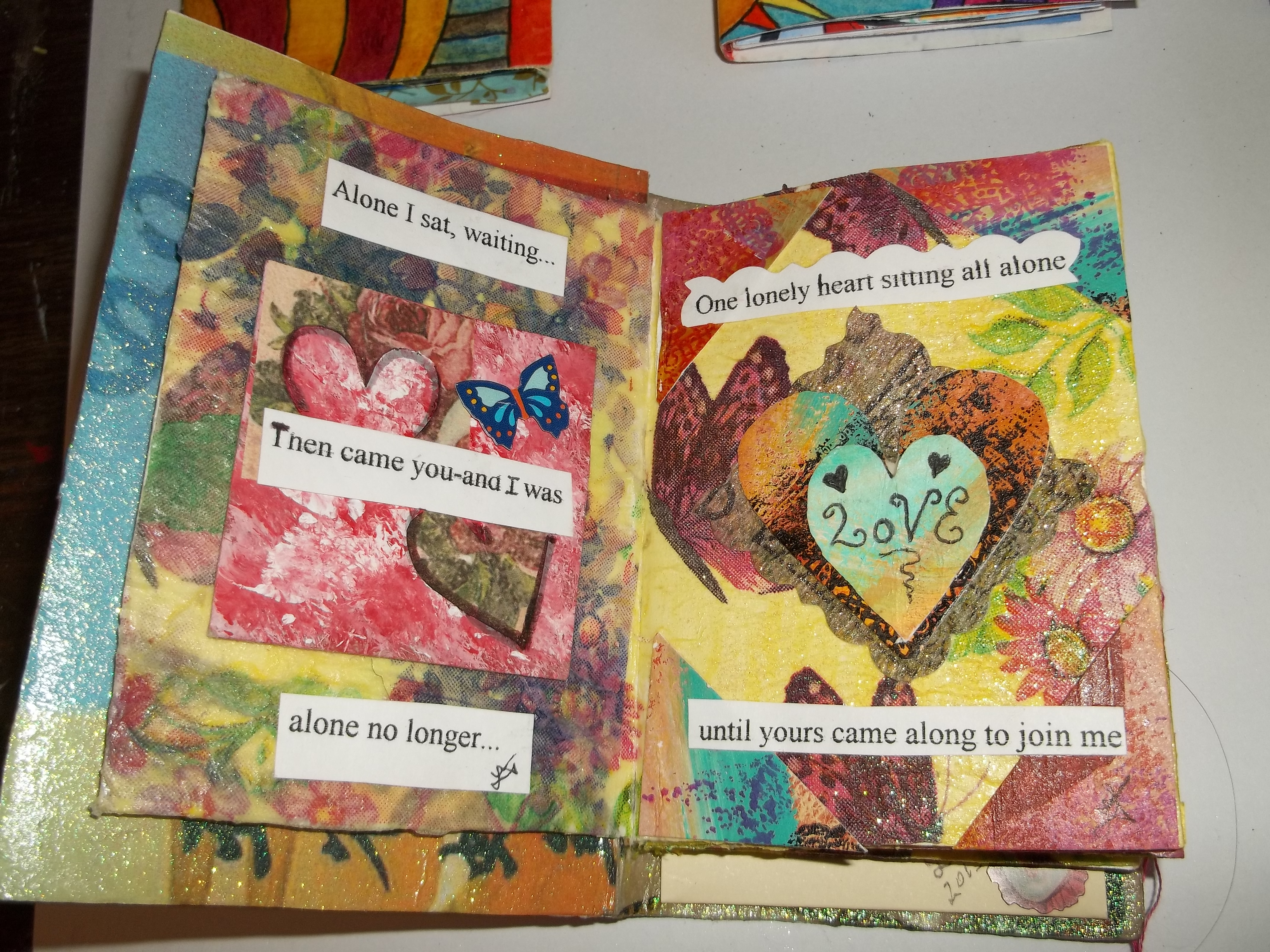 Making mixed media mini books for Books with art projects