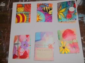 handmade books with mixed media art