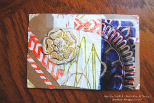Create a Package Tape Postcard; variation