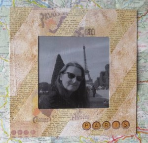 mixed media photo frame