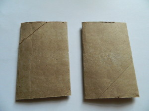 handmade books with paper towel and toilet paper rolls