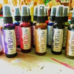 Art Journaling with Imagine Craft product Irresistible Sprays & Stazon inkpads