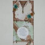 Using recycled cardboard, Kim Kelley make this handmade gift wall hanging