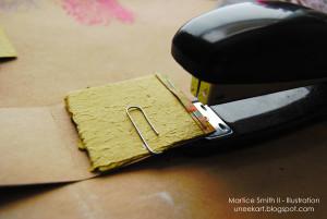 Staple the folded edge