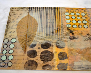 Encaustic collage by Elaine Brady Smith