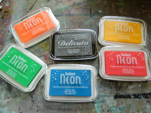 Stamping with Radiant Neon inks