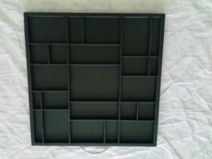 I chose a tray that was already black