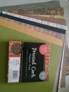 decorative paper and printed cork