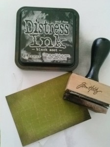 distressed paper with distress ink
