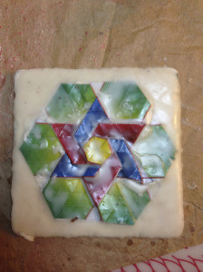 encaustic tiles with mixed media collage