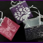 Three examples of the small mixed media gift bag.