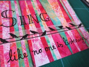 Gelli prints to create mixed media gifts
