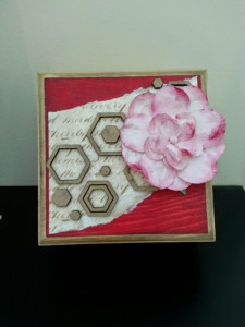 Flower box with hexagon confetti