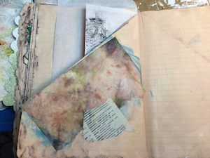 mixed media art journal with these steps