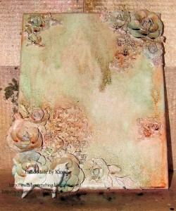 Kim Kelly steps through using many elements for her mixed media collage canvas