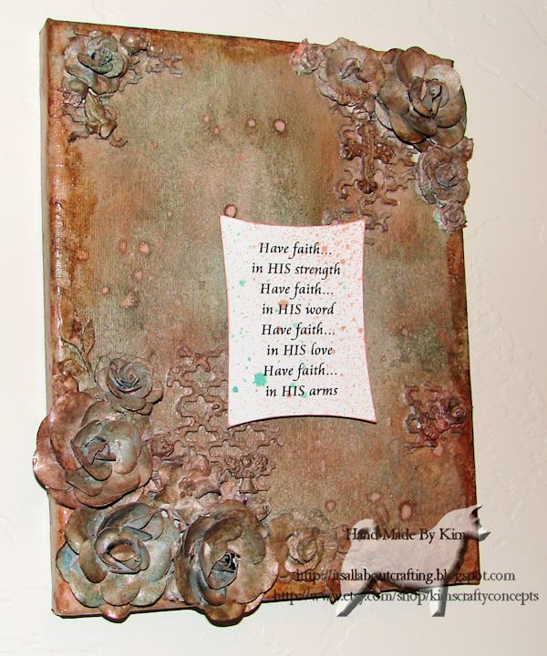 Mixed Media Canvas Have Faith