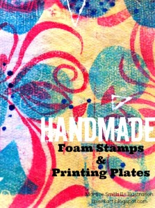 Handmade Foam Stamps & Printing Plates, tutorial by artist Martice Smith II