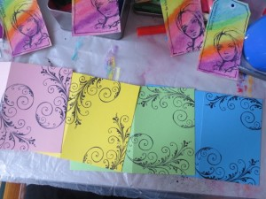 handmade Greeting Cards from manilla shipping tags