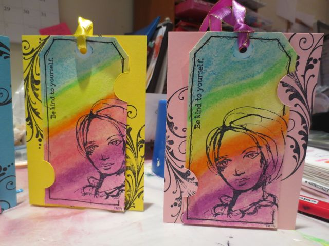 Turning mixed media tags into greeting cards greeting cards from shipping tags m4hsunfo