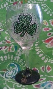finished wine glass