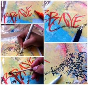 Funky Calligraphy and graffiti; step-by-step process by Martice Smith II