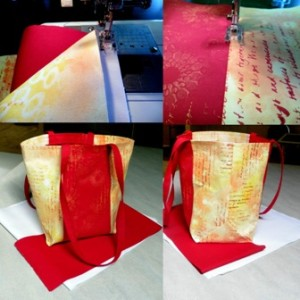 Sewing the bag and the transformation of fabric