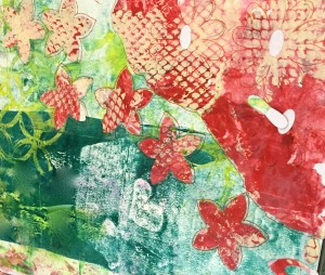 Mixed Media Art background made with the help of Scrapbook doodles templates and punches