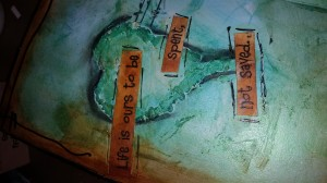 video of art journaling by Terri Sproul