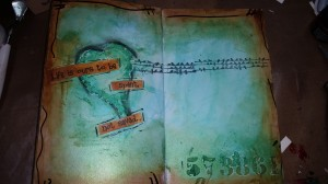 Alternative text: video of art journaling by Terri Sproul