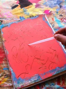 Smooth application of Radiant Neon Amplify! Writers from Imagine® Crafts on a Gelli plate