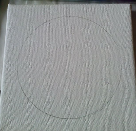 canvas with plain circle