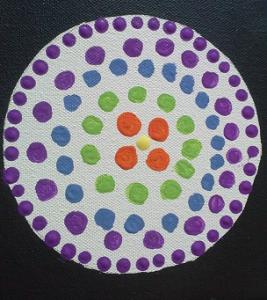 dots filling circle