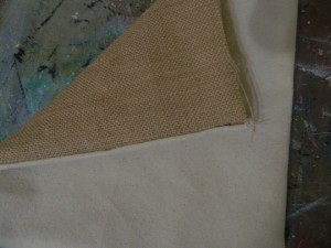 : using canvas, burlap, ink and stencils to make a décor pillow for your home or gift