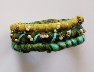 Jewelry made from Fiber and Fabric