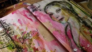 Honorata creates wonderful mixed media art journals